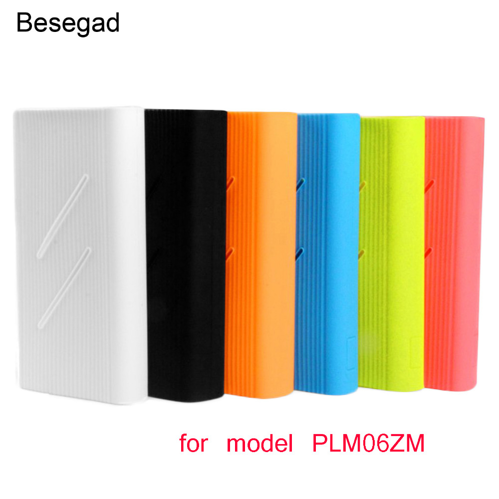 Besegad Soft Rubber Silicone Gel Protection Case Cover Skin Sleeve Protector for <font><b>Xiaomi</b></font> Xiao <font><b>Mi</b></font> <font><b>Power</b></font> <font><b>Bank</b></font> <font><b>2C</b></font> <font><b>20000mAh</b></font> PLM06ZM image