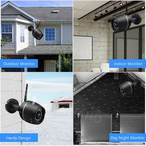 Image 4 - 1080P HD واي فاي كاميرا لاسلكية CCTV IP كاميرا معدنية في الهواء الطلق مراقبة الأمن الأشعة تحت الحمراء للرؤية الليلية اتجاهين الصوت P2P