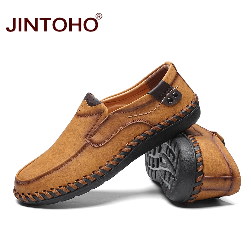 JINTOHO Fashion Brand Men Shoes Men Genuine Leather Shoes Casual Men Shoes Male Leather Shoes Slip On Men Loafers 4