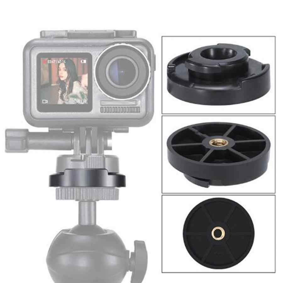 Quick Release Mounting Base in Plastic+Metal for DJI Osmo Action Sports Camera Vbestlife 1//4 inch Action Camera Mounting Base