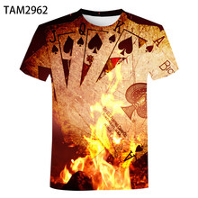 Playing Cards 2021 New Summer Men's And Women's 3D Personalized Harajuku Printed T-Shirt Children's Comfortable Versatile T-Shir
