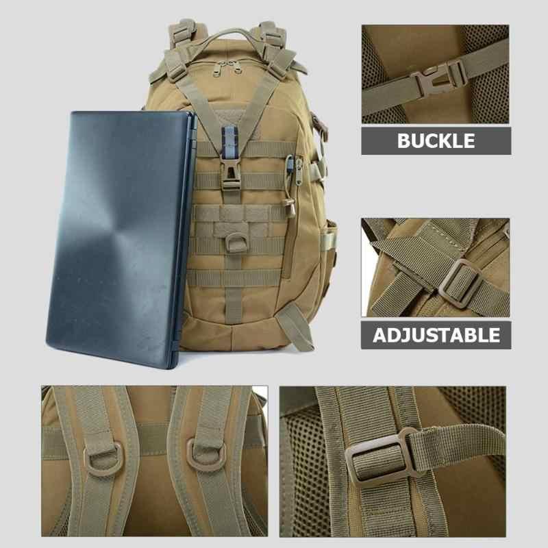 Mais novo grande acampamento mochila militar dos homens sacos de viagem à prova dwaterproof água tático molle escalada esportes ao ar livre equitação saco