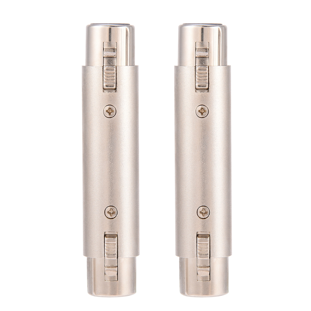 SOONHUA 2Pcs Microphone Connector 3-Pin XLR Female To Female Audio Adapter Connector Mic Accessory For Players Mixing Consoles