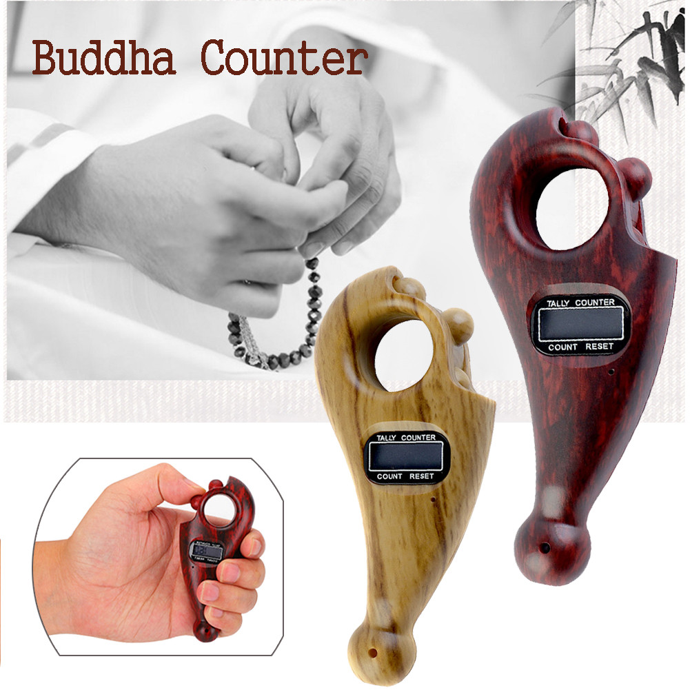 Digital Counter Namo Amituofo Buddha Beads Counter For Buddhist Finger Game