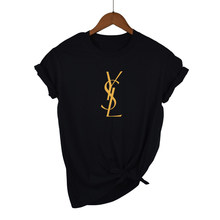 Women's short-sleeved T-shirt, slim, plus size, with popular logo for Couples, fashionable, 2021