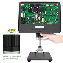 Andonstar AD208 8.5 인치 LCD 디스플레이 화면 5X 1200X 디지털 현미경 1280*800 조정 가능한 1080P 범위 용접 도구 현미경