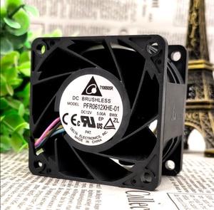 PFR0612XHE-01 6038 12v 5.00a 60*60*38mm servidor inversor pwm 4 pinos axial ventilador de refrigeração