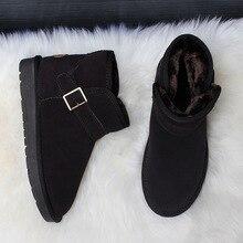 Shoes Buckle-Strap Snow-Boots Winter Men's Warm Plush Fur Ankle ZUZI Insole Australia-Style