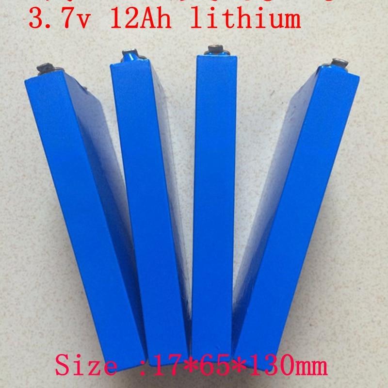 1pc de muestra 1765130 3,7 v 12ah de polímero de 12000mah 3,7 v batería bolsa 3,7 v 30 alto drenaje 60A de litio para Diy paquete de energía 12ah eléctrico