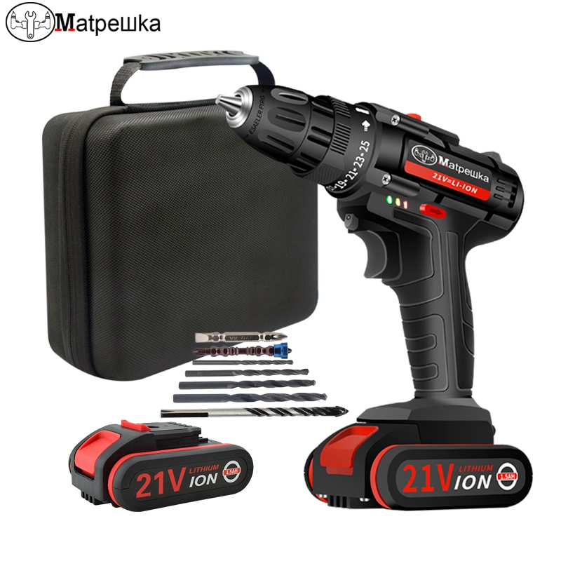 21V Electric Screwdriver Electric Drill Lithium Cordless Drill Cordless Screwdriver Mini Drill Rotary Tool Power Tools