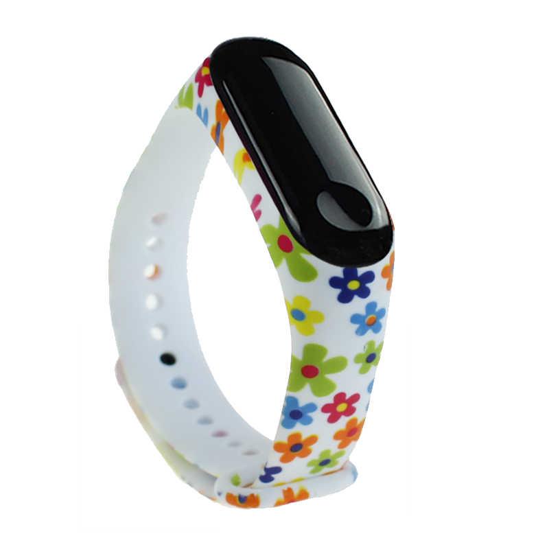 Sport Watch Wrist Band Li Mi Ted untuk Xiaomi Mi Band 3 untuk Xiaomi Mi Band 3 Smart Gelang Gelang silikon Pengganti