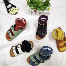 Cork Kids Sandals synthetic suede Girls shoes boys Summer Gl