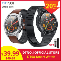 DTNO.I No.1 DT98 Smart Watch IP68 Waterproof 1.3 Full Round HD Screen ECG Detection Changeable Dials Smartwatch Fitness Tracker Fashion Business Stylish Watches Heart Rate Monitor Bracelet Wristband Men Women