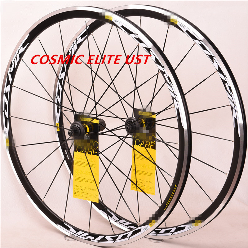 NEW 2018   Cosmic ELITE UST  700C Alloy Wheels  Road Bicycle Bike Wheel V Brake Aluminium Wheelset Bicycle Wheels Rims