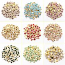 Hot 100 sztuk Mix rozmiar szycia dżetów miedziana podstawa brokat kryształy Starss bez mocowania na gorąco Rhinestone szyć na dżetów na ubrania tanie tanio MAKLIN CN (pochodzenie) Luźne dżetów Cyrkonie Naszywane ROUND MIX SIZE flatback Buty Odzieży Torby Tak ( 50 sztuk)