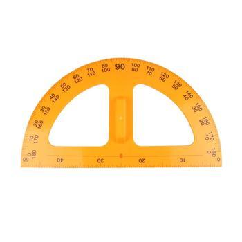 Praktyczne kątomierz przenośne narzędzie do nauczania kreatywne materiały kreślarskie studenci papiernicze dla nauczyciela szkoły domowej (żółty) tanie i dobre opinie NUOLUX Z tworzywa sztucznego Protractor Ruler