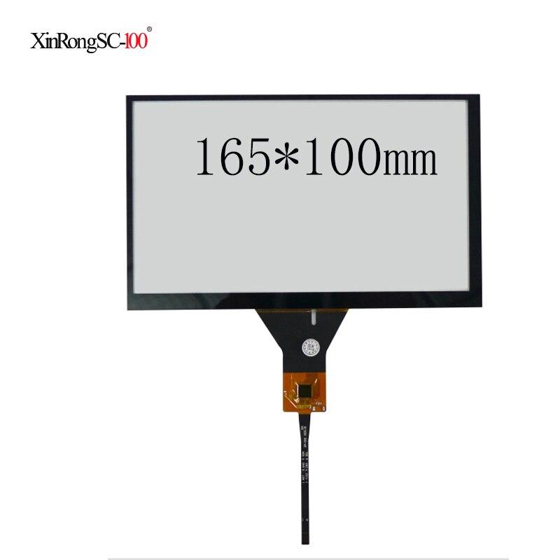 165*100 164*99 7 polegada carro dvd navegação XCPG7.0-085 XCPG-006 fpc 6pin capacitivo painel da tela de toque digitador vidro