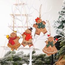 Wesołych świąt drewniane zapasy ozdoby na choinkę Navidad ozdoby choinkowe dla domu prezenty bożonarodzeniowe szczęśliwy wystrój nowego roku tanie tanio g-257~264 Pudełko na prezent christmas decorations for home home decor new year decor kerst christmas tree decorations