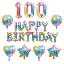 32 pulgadas de globo 0-9 Número boda Día de San Valentín de juguete de los niños decoración de fiesta de cumpleaños globo de papel de aluminio