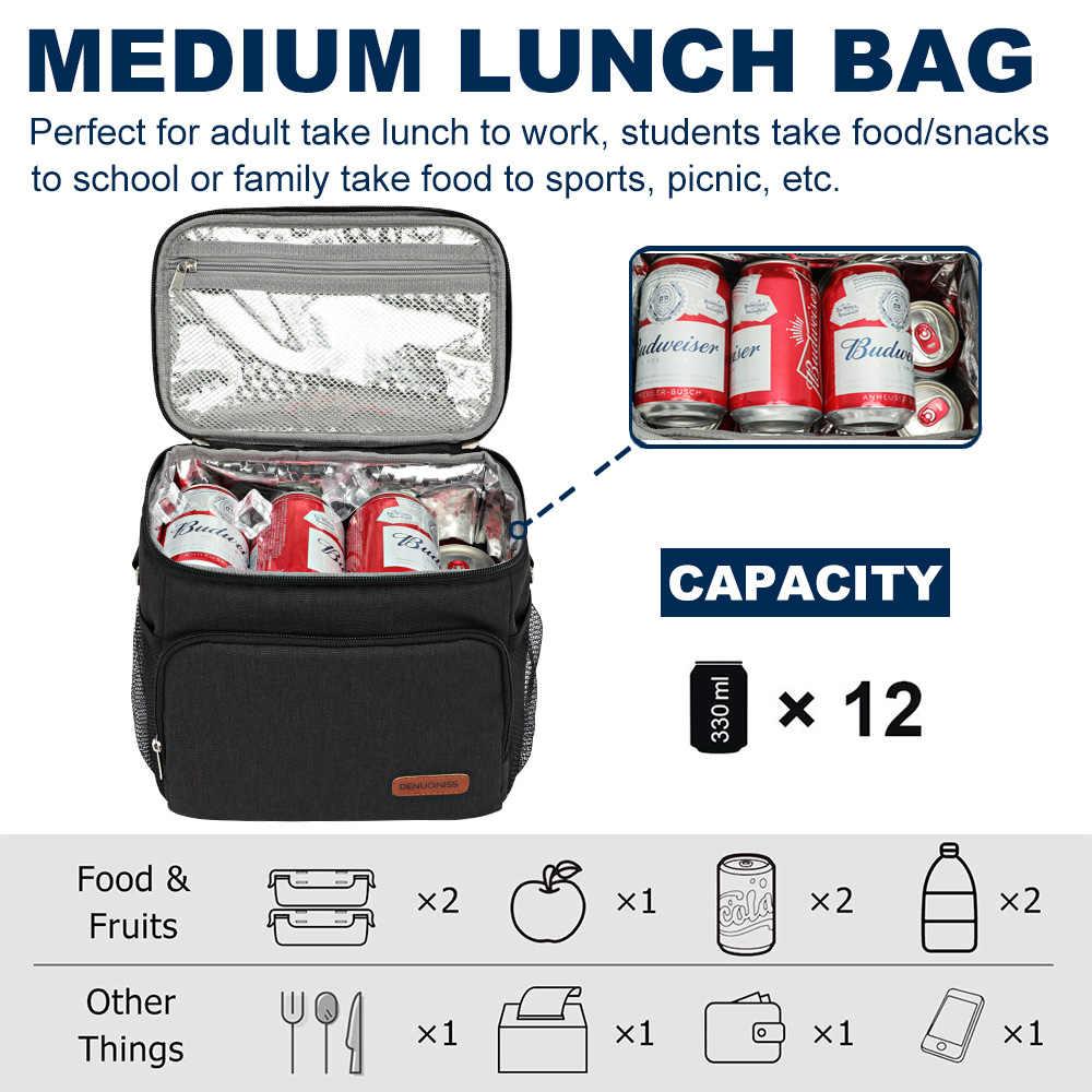 Toplive Déjeuner Sac Cooler Lunch Bento Fourre-tout Étanche Sac-repas isotherme