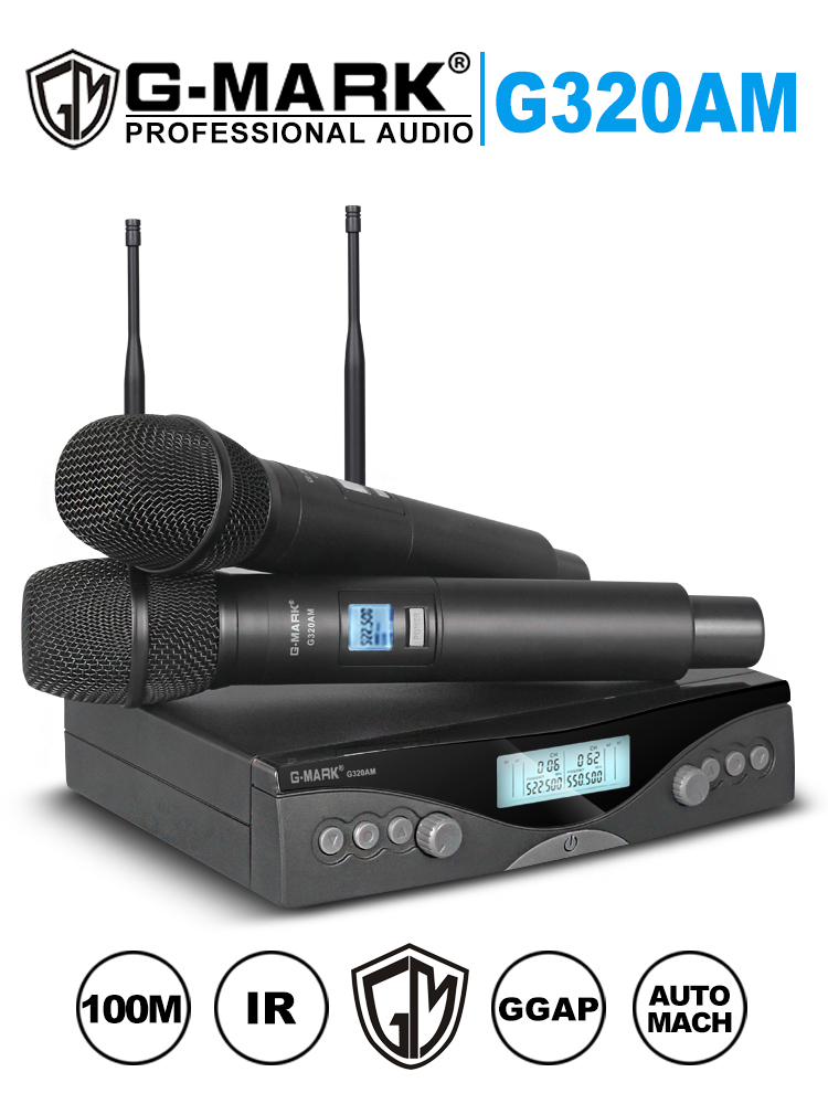 G-MARK Microphone-System Receive UHF Professional Handheld Wireless Adjustable 100M Automatic