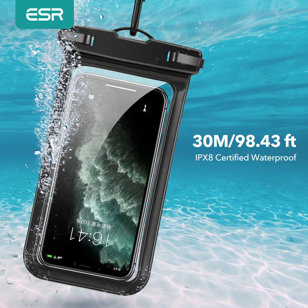 ESR Phone Bag Case IPX8 Waterproof Phone Pouch Case Universal 6.5 inch Phone Case for iPhone 11 Pro Max Xs X 8 7Plus 6s Samsung