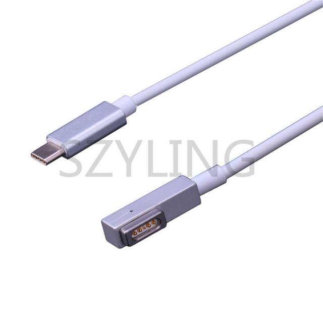 USB C typ C do MS * 1 Adapter kablowy do Apple MacBook Air 45W 60W 85W tanie i dobre opinie SZYLING CN (pochodzenie) 16 v 3 25A Dla apple a1278