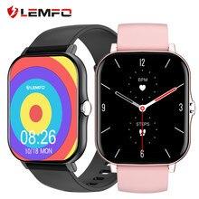 LEMFO – montre connectée LF27 pour hommes et femmes, écran Full HD de 1.7 pouces, moniteur de fréquence cardiaque, de pression artérielle et d'activité physique