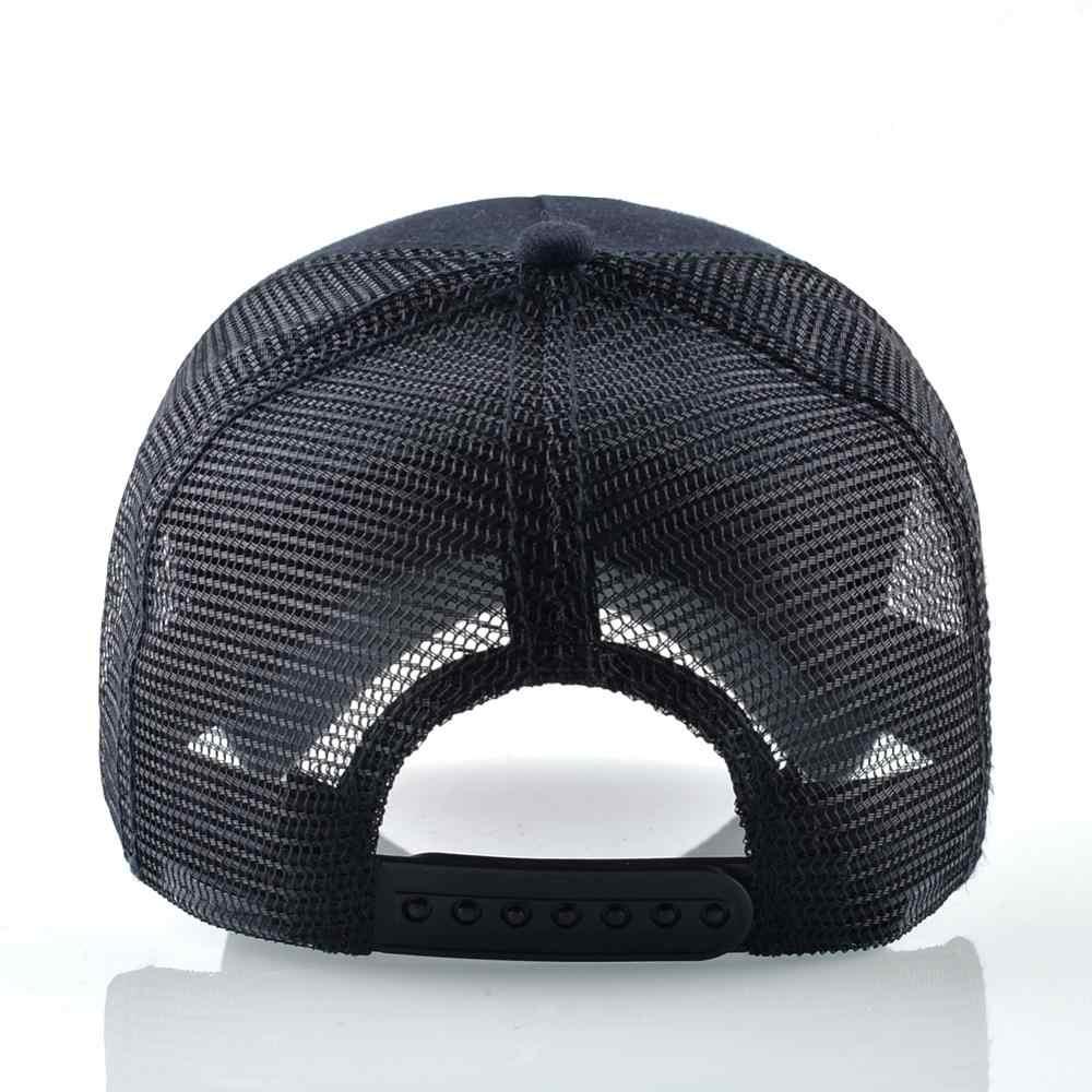 للجنسين القطن Snapback قبعات للرجال التطريز الذئب قبعة بيسبول المرأة تنفس شبكة سائق الشاحنة العظام الديك الهيب هوب القبعات