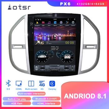 Android 8.1 Tesla Styel Car DVD Player GPS Navigation For Mercedes-Benz Vito 2016+ Vertical screen Auto Radio Head Unit Carplay