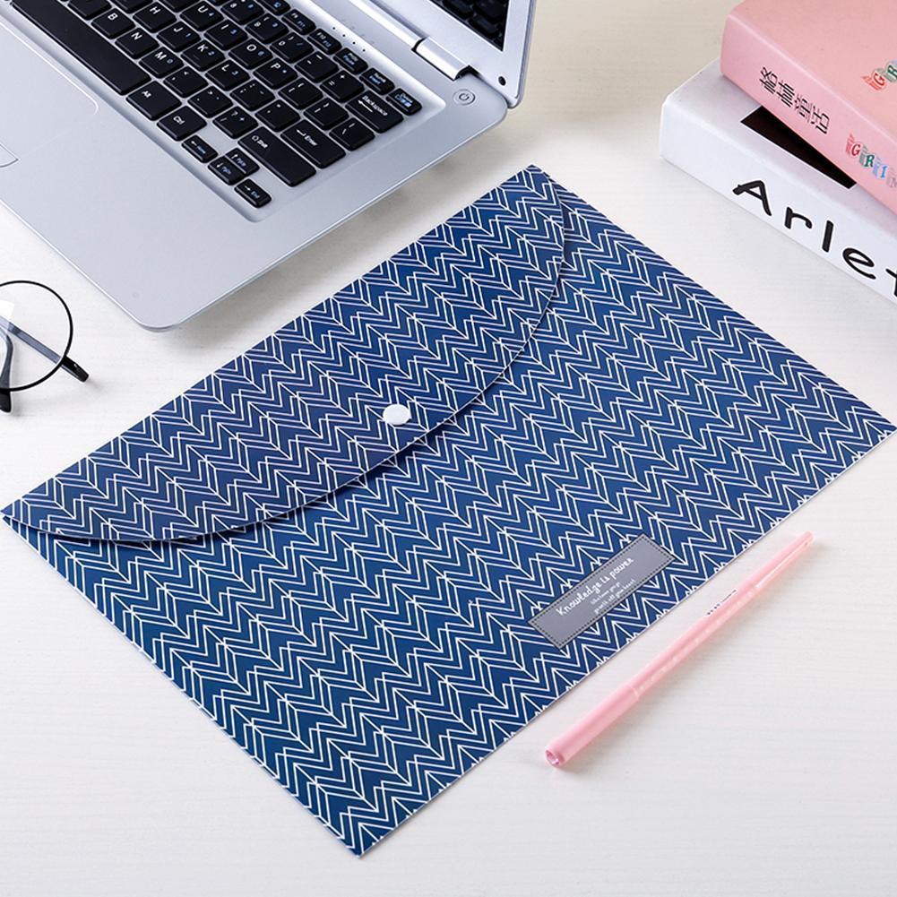 Portable Document File Bag Lightweight A4 File Bag Office 23.0*33.5mm Invitation For Business Letter School Organizer Folde U9P6