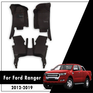 For Ford Ranger 2020 2019 2018 2017 2016 2015 2014 2013 2012 Car Floor Mats Leather Rugs Carpet Mats Auto Interior Accessories(China)