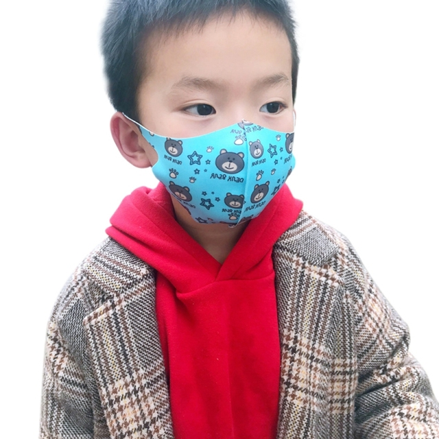 1 Pcs Comfortable Kids Washable Fashion Anti Dust Face Mask For Girls Boys Random Color 5