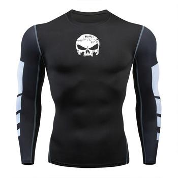 Męskie koszulki marki siłownia uprawianie sportów joggingowych koszulki kompresyjne koszulki Rashguard Tight Sportswear mężczyźni bieganie wyszkolone ubrania tanie i dobre opinie codylundin Wiosna Lato AUTUMN Winter spandex Pasuje prawda na wymiar weź swój normalny rozmiar men Long Sleeves t Shirts