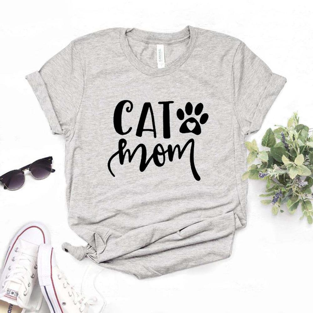 Cat Mom Paw Print Women Tshirts Cotton Casual Funny T Shirt For Lady  Yong Girl Top Tee 6 Color Drop Ship NA-954
