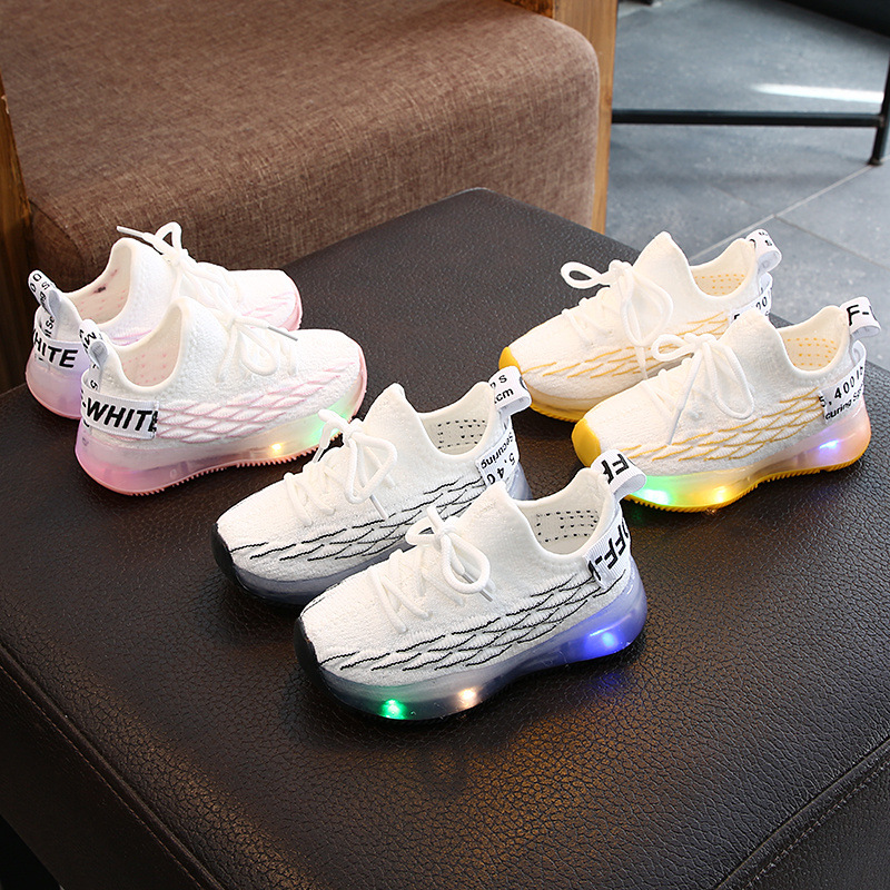 2020 Autumn Children Shoes Boys Girls Sport Shoes Breathable Toddler Shoes Sneakers Soft Bottom Non-slip Casual Kids Shoes