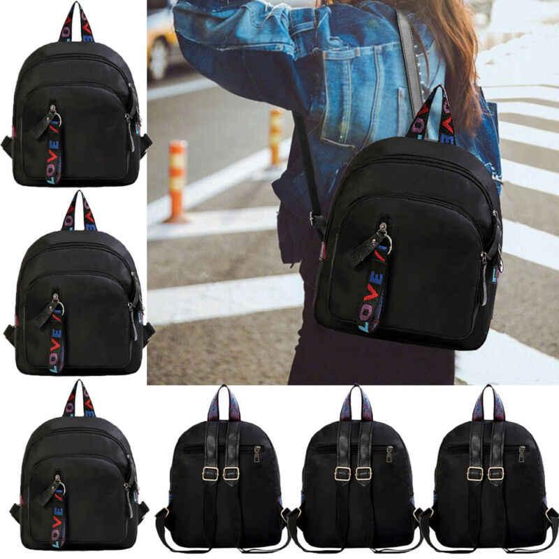 أزياء المرأة الفتيات البسيطة سفر الجلود حقيبة ظهر المدرسة حقيبة كتف