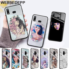 Melanie Martinez Glass Case for Samsung S7 Edge S8 S9 S10 Plus A10 A20 A30 A40 A50 A60 A70 Note 8 9 10
