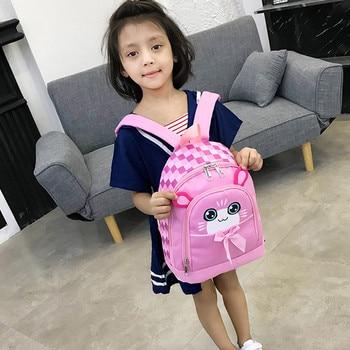 Student Boys&girls Kids Backpack Cartoon Cat Animal Plush Backpack Toddler Girls Boys Waterproof 2020 School Bag #T1G