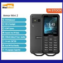 Ulefone Armor Mini 2 IP68 Outdoor Functie Telefoon Waterdichte MTK6261D Smartphone Dual Sim Dual Standby Mobiele Telefoon Zaklamp Sos