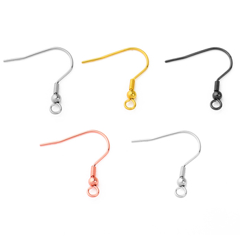 50pcs Stainless Steel Earrings Hooks Hypo-Allergenic Women Earring Connector Components Jewelry Findings Making Accessorie