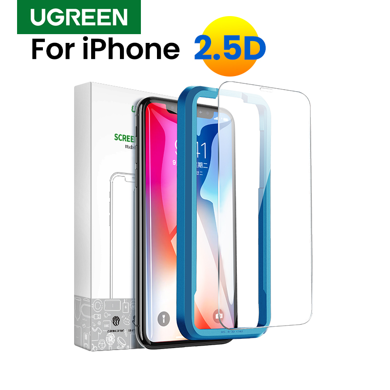 Ugreen Protective Glass On IPhone 7 For IPhone 11 Pro Max X XS Max XR 8 7 6 Plus 2.5D Glass On IPhone 7 6 Screen Protector