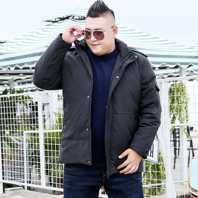 Новая мода, плюс размер ветровка мужская зимняя парка с капюшоном теплая куртка Повседневная Длинная секция негабаритная 9XL 10XL хлопок пальт... - 4