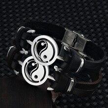 Bracelet Yang Bangle Wristband Jewelry Gift Womancharm Friend Fashion Vintage for Men