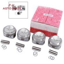 NEW STD 82.5mm Engine Piston & Ring Kit 06H 107 065 CP For Audi A4 A5 VW Passat B6 Golf Skoda Seat 1.8TSI 06H107065CP Pin 21mm