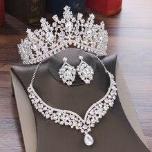 Комплект ювелирных изделий в стиле барокко с кристаллами в форме капли воды