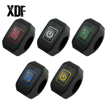 """22mm 7/8"""" Motorcycle Handlebar Switch Momentry Buttton For Electric Star Kill Waterproof Control Switch Button with LED light"""