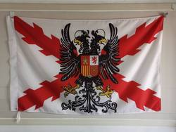 Espanhol império cruz de borgonha bandeira espanha com emblema 3x5ft 150x90cm personalizado bandeira latão buracos de metal
