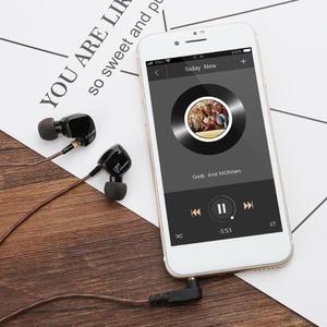Image 4 - KZ ATR In Ear Stereo In Ear Stereo del Trasduttore Auricolare 3.5 millimetri di Tipo L Spina A Cancellazione di Rumore Auricolari Super Bass sport Auricolare Per il iPhone 6 Xiaomi