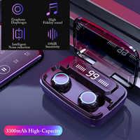 M11 tws fone de ouvido com display digital led toque ipx7 à prova dwireless água sem fio bluetooth fone com 3300 mah caixa de carregamento hd chamada